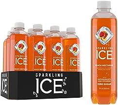 Sparkling Ice Peach Nectarine Sparkling Water, with antioxidants and vitamins, Zero Sugar, 17 FL OZ Bottles (Pack of 12)