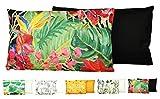 JACK Outdoor Lounge Kissen 30x50cm Motiv Dekokissen Wasserfest Sitzkissen Garten Stuhl, Farbe:Dschungel