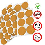 Patch, All Natural, Resealable 60-Count Pack, 24-Hour Protection, Apply to Skin and Clothes, for Adult Kid, Orange
