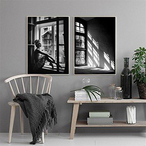 bdrsjdsb Lassen Sie das Licht in Leinwand Kunst Wall Poster Bild Malerei Zimmer rahmenlose Dekor Geschenk 1# 50 * 70 cm