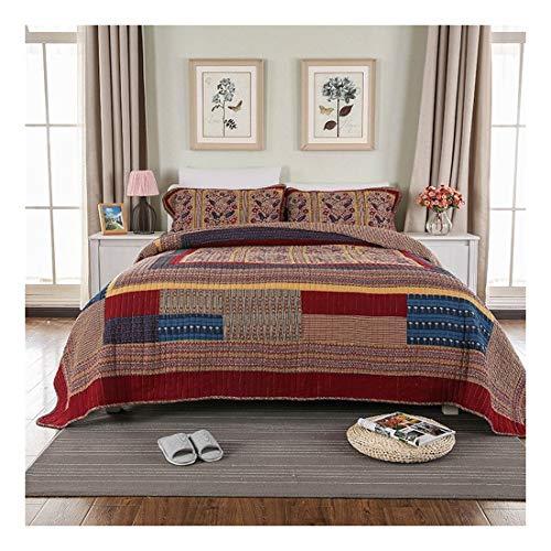 LNLW Three Pieces op Bedding Sets, Pure Cotton Hand Made Quilten Grote Maat Gewassen Quilts geschikt for gebruik thuis