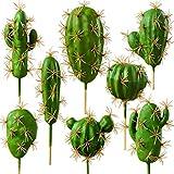 FagusHome Plantas de Cactus Artificiales Plantas suculentas Falsas Selecciones 8 PCS Plantas de...