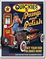 Quickies Pump and Polish Tin Sign 13 x 16in 【Creative Arts】 [並行輸入品]