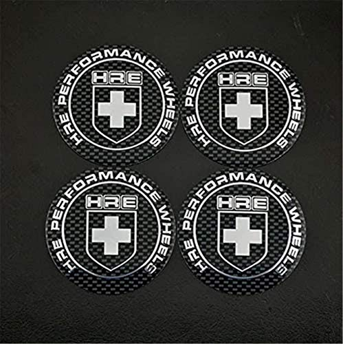 kil1 4Pcs 65mm HRE Performance Wheel Center Caps Emblem Badge for E36 E46 E90 E91 Curved