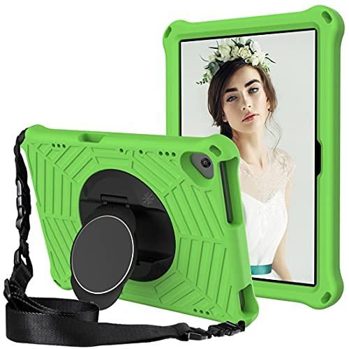 GOZOPO - Custodia per bambini per Lenovo M10 FHD REL   Lenovo Tab M10 HD TB-X505F   Tab M10 TB-X605F 10.1 , resistente antiurto con tracolla e supporto, colore: Verde