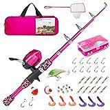 Best Fishing Pole For Kids - Lanaak Kids Fishing Pole - Pink Camo Review