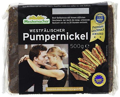 Mestemacher Pumpernickel, Westfälische , 6er Pack (6 x 500 g Packung)