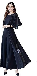 Kayaa パンツドレス セットアップ 袖あり パーティードレス オールインワン レディース パンツスーツ フォーマルドレス 結婚式 二次会 ワイドパンツ ツーピース 大きいサイズ 20代 30代 40代