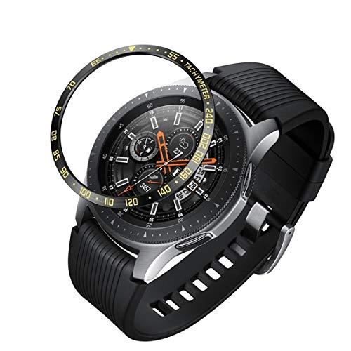 LENASH Caja de Reloj Marco de protección de Acero de dial para Galaxy Watch 46mm (Color : Color1)