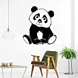 wZUN Pequeño Panda Pegatinas de Pared Lindo Panda Pegatinas de Pared calcomanías de Vinilo de Animales niños Lindos decoración del Dormitorio del bebé 63X70 cm