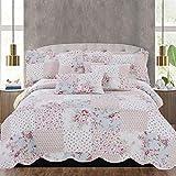 Tagesdecke, 3-teilig, Bettüberwurf mit 2 Kissenbezügen, baumwolle, mehrfarbig, Super King 255x275