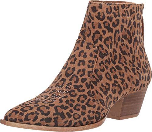 Dingo Womens Leopard Klanton 5in Ankle Fashion Boots Leather 9.5 M
