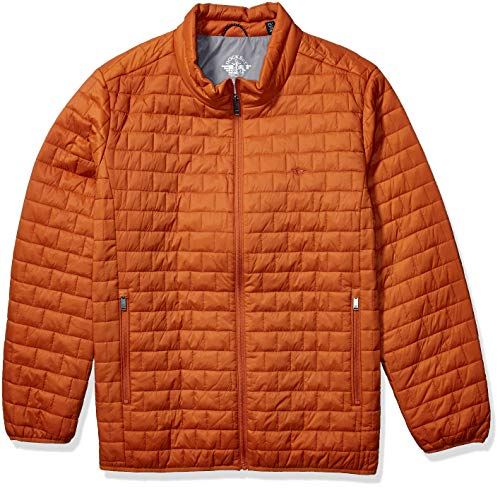 Dockers Men's Tall The Connor Lightweight Ultra Loft Quilted Packable Jacket, Orange Matte, 4X Big