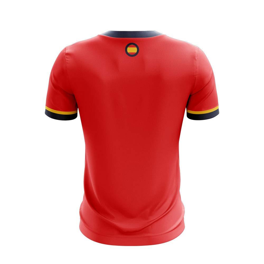 Airosportswear 2019-2020 - Camiseta de fútbol de España (Marco asensio 11), Hombre, Rojo, Adult 5XL - 58-60