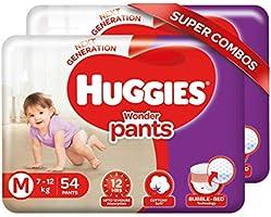 Huggies Wonder Pants Medium Size Diapers Combo Pack of 2, 54 Counts Per Pack (108 Counts)