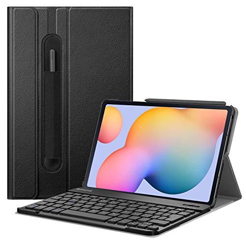 FINTIE Tastiera Custodia per Samsung Galaxy Tab S6 Lite 10.4  SM-P610  P615 2020 [Layout Italiano] - Slim Cover con Rimovibile Magnetica Wireless Bluetooth Tastiera, Nero