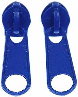 Miniblings Reißverschluss Zipper Ohrstecker Zip Upcycling 80s blau rund - Handmade Modeschmuck I Ohrringe Stecker Ohrschmuck