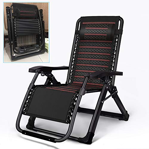 Folding Lounge Chair,Breathable,Reclining Patio Chairs Recliner,500lbs Capacity,Adjustable Zero Gravity Chaise,Durable,Orange, Black, Brown