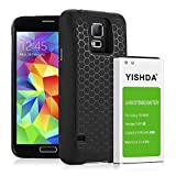 YISHDA Galaxy S5 Battery, 6100mAh Replacement Samsung Galaxy S5 Extended Battery with Back