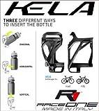 RaceOne - Soporte para Botellas de Bicicleta, Unisex, para Adulto, Negro/Gris, único
