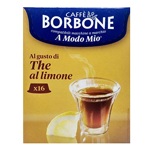 16 Capsule Caffè Borbone the al limone compatibili A Modo Mio