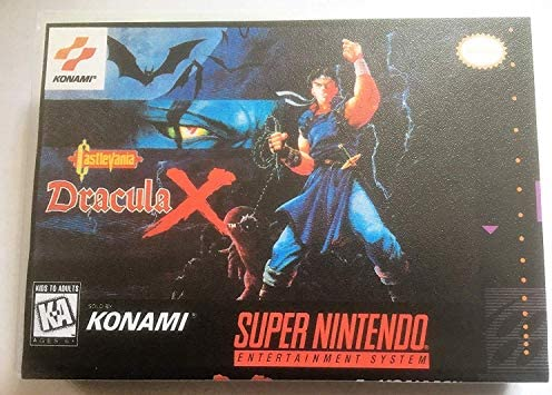Castlevania Dracula X Super Nintendo SNES Reproduction Video Game Cartridge with Game Case Manual product image