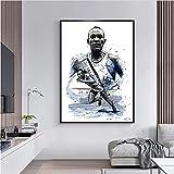 ZzSTX Field Events Player Poster Jesse Owens Leinwanddrucke