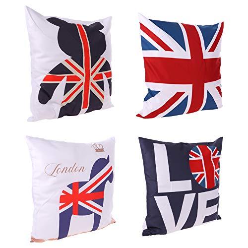 ifundom 4Pcs Bandiera Cassa del Cuscino Copertura del Cuscino Divano Cuscino Copertura del Cuscino di Tiro Caso della Copertura del Cuscino