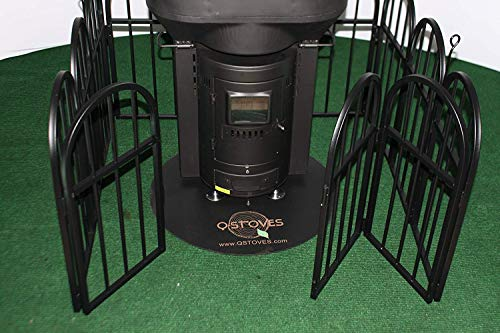 Q-Stove Q Gate Fence Protective Barrier for Q Flame Outdoor Patio Heater, Black