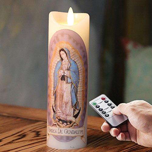 Devotional Vigil 2 Cases Novena Ginger Wholesale Our Lady of Guadalupe Religious Candle Saints 12pk Prayer Candles White