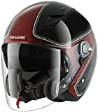 HE7455EKRXXS - Shark RSJ Sassy Motorcycle Helmet XS Black Red (KRX)