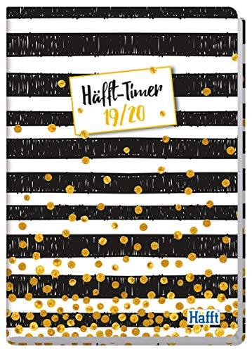 Häfft-Timer A5 2019/2020 [Stripes & Dots] Hardcover Schüler-Kalender, Schulplaner, Semesterplaner für Oberstufe, Ausbildung oder Studium