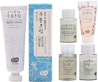 Whamisa Organic Flowers Water Cream 50ml with 4 Skincare Minis | Naturally fermented | EWG Verified | BDIH Certified |