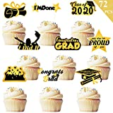 Graduation Cupcake Toppers 2020 Party Decorations 72 PCS - Class of...