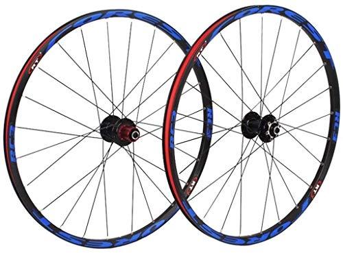 ZWH Juego De Ruedas Bicicleta 26/27,5 Pulgadas Bicicleta de montaña Ruedas, MTB Rueda Juego de Discos de Freno de llanta 8 9 10 11 Velocidad rodamientos sellados Eje híbrido Touring Bike