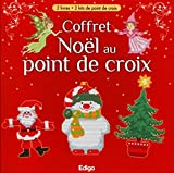 Coffret Noël au point de croix: 2 livres + 2 kits de point de croix (Motifs de Noël au point de croix et les...