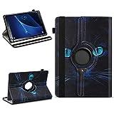 NAUC Tablet Schutzhülle kompatibel für Samsung Galaxy Tab A6 7.0 Universal Tasche aus Kunstleder Hülle Standfunktion 360° Drehbar Cover Hülle, Farben:Motiv 6
