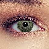 Designlenses, Dos lentillas de color verde discretamente colores suaves de un mese sin dioprtías/corregir + gratis caso de lente'True Green'
