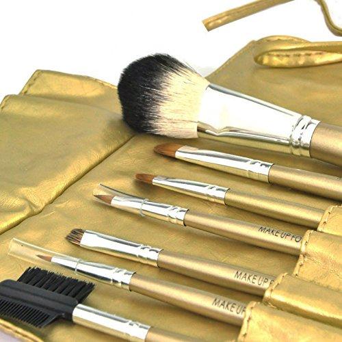 7 pcs Lot de pinceaux de maquillage Maquillage Beauté brosses Fard à paupières Eyeliner Lip Outil Brosse
