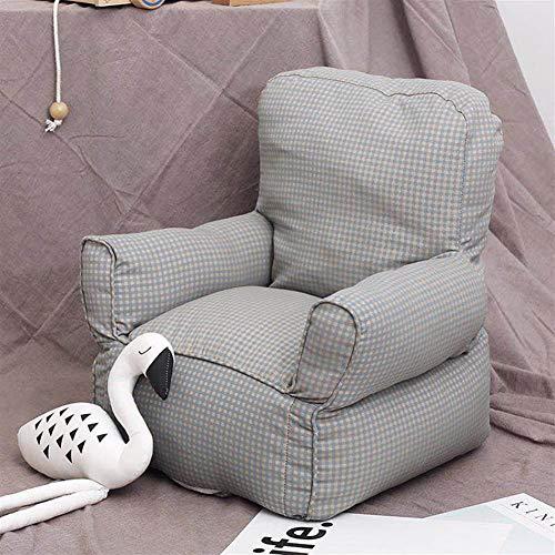 AGVER Kleinkind-Sessel, Weiche Kind Sicherer Sitz Spielzimmer Sofa Bequeme Kindermöbel, Ergonomisch Gestaltet Bean Bag Stuhl, Für Kinderzimmer(Pink),Grau