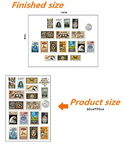 GQCDQT Muurstickers ^stamp poster Kenteken cartoon Creatieve Muur Sticker cafe kinderen kamer woonkamer slaapkamer muur home decor sticker KD-JM7286