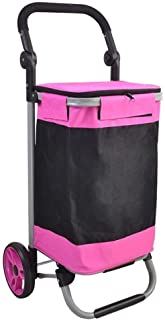 LQBDJPYS 2-Wheel Collapsible Foldable Shopping Grocery Cart Trolley Luggage Cart Folding Luggage Bags (Color : #4)