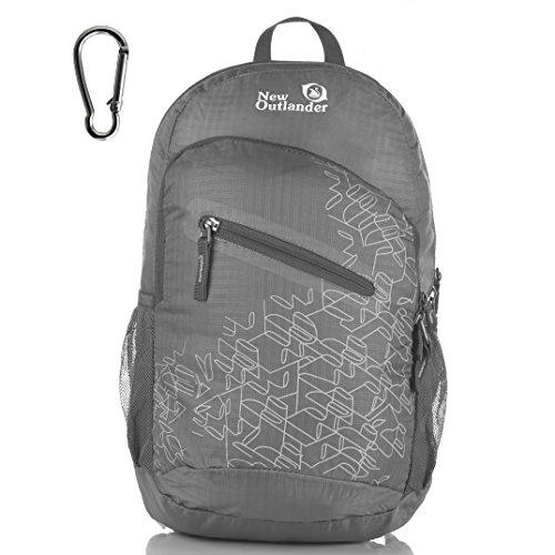 Outlander Packable Handy Lightweight Travel Hiking Backpack Daypack-Grey-L