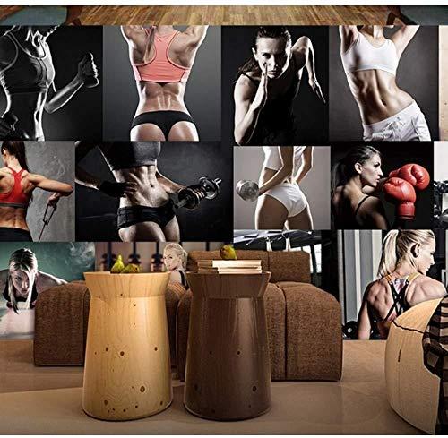 Sfondi Personalizzati Bodybuilding Palestra Sfondo Muro Salute Club Hintergrundbild Foto 3D Hintergrundbild fototapete 3d Tapete effekt Vlies wandbild Schlafzimmer-400cm×280cm