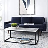 Safavieh Home Baize White and Grey Rectangle Coffee Table