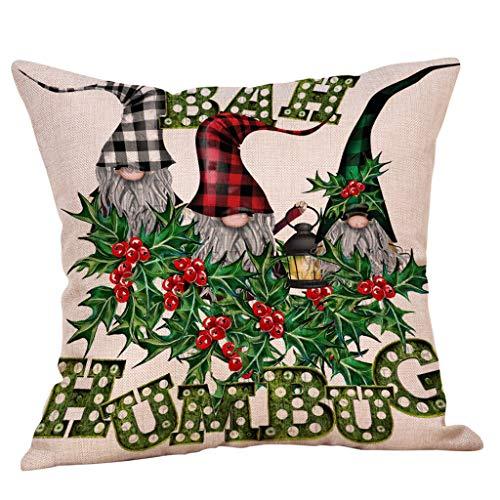 Christmas Ornaments Faceless Doll Pillow Covers Santa Claus Pattern Pillowcase Home & Garden Pillow Case