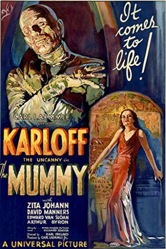 HSE Boris Karloff The Mummy Movie Poster 1932 Campy Classic Horror 24X36 Scary (Reproduction, not an Original)