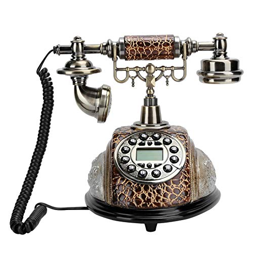Vbestlife Teléfono Vintage, teléfono con Cable de Escritorio de línea Fija con Cable de Estilo Retro para el hogar/la Oficina/el Hotel