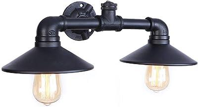 Hanamaki industriel rustique deux lumières mur applique steampunk