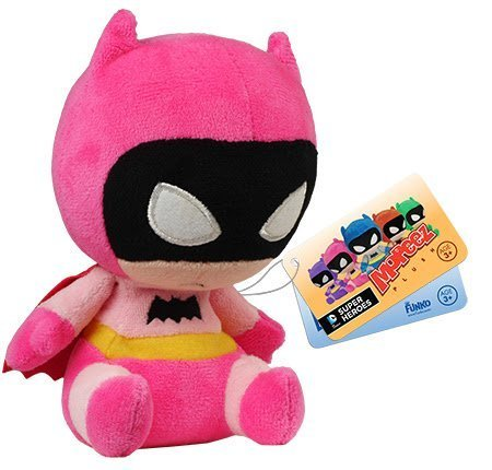 Batman 75th Anniversary Pink Rainbow Batman Mopeez Plush by